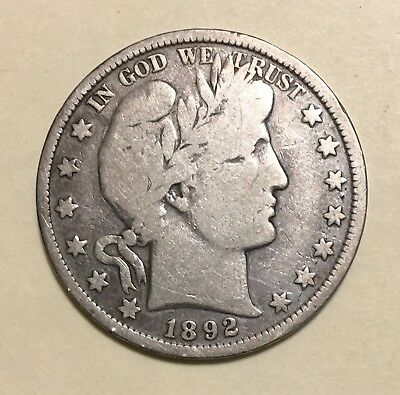 1892 Barber Half Dollar, Better Date & Grade