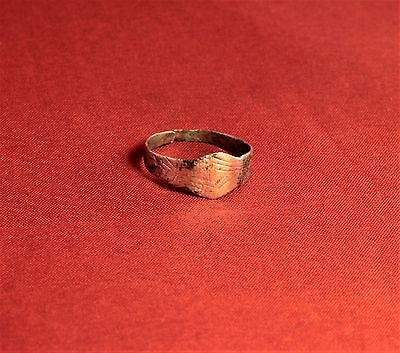 Medieval Archer's Shape Silver Ring - 12. Century