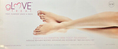GLove Treat ENHANCED PARAFFIN WAX FOOT TREATMENT 4 Treatments S/M New in Box