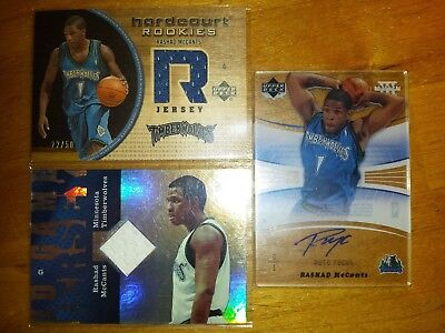 3X Rashad Mccants Game Used Jersey & Autograph Auto Lot #22/50 T Wolves!