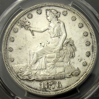 1876-S Trade Dollar - PCGS AU Detail - Certified Silver, Very Nice Look