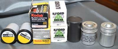 9 Rolls Black and White 35mm Film - Expired