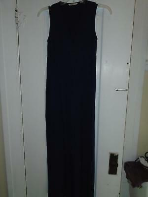 Nursing Career Dress Full Length Sz Small Ripe Maternity Dark Blue Sleeveless