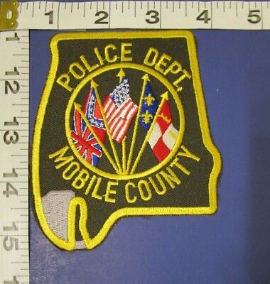 Mobile County Alabama State Shaped Police Shoulder Patch