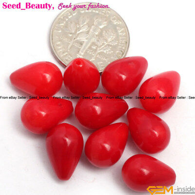 Half Drill Flower & Round & Drop Gemstone Coral Loose Beads for Jewelery Making
