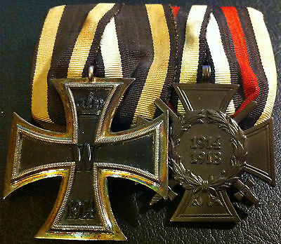 "✚6117✚ German mounted medal group Iron Cross Honour Cross WW1 MAGNETIC CORE ""V"""