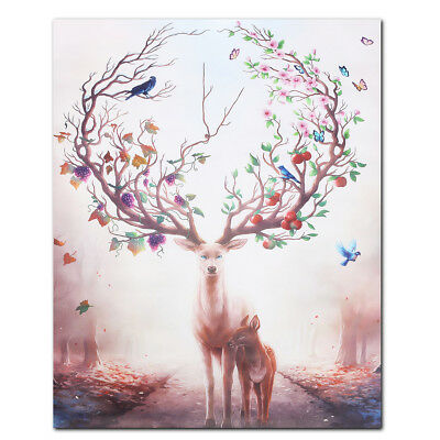 Creative Animal Forest Art Canvas Prints Unframed Wall Picture Poster Home Decor