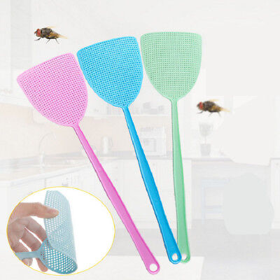 3x/set Fly Swatter Manual Swat Pest Control Sweet Color Lightweight Easy Storage