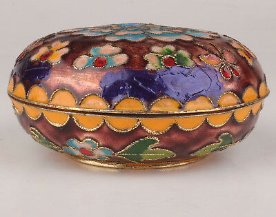 Cloisonne Jewelry Box Old Handmade Crafts Gift Decoration