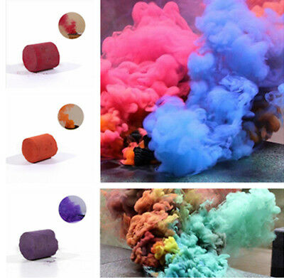 Colorful Smoke Cake Smoke Effect Show Bomb Round Photography Aid Toy Divine New.