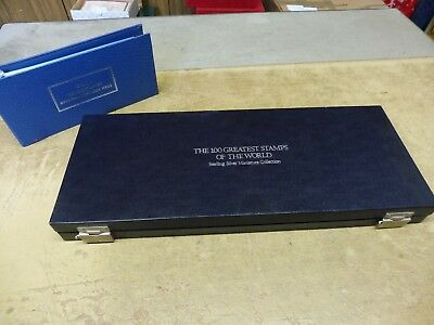 Sammlung , 100 Greatest Stamps of the World , Sterling Silber Collection in Box