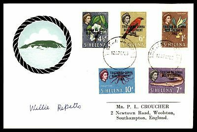 St Helena 1963 Tristan Da Cunha Resettlement Combination Sealed Fdc First Day Of