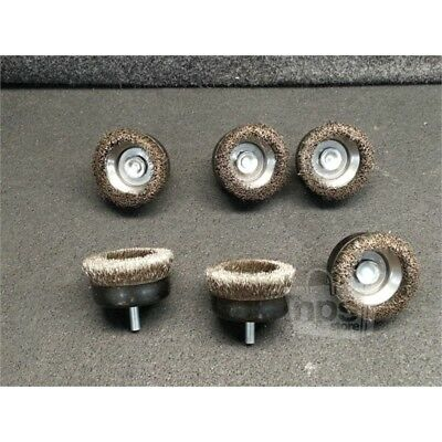 """Lot of 6 Osborn 32080 2-1/2"""" Cup Brush 1/4"""" SD Crimped Stainless Steel Bristles"""
