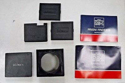 Zenza Bronica GS-1 Camera Lens Mount Filter Holder / Assorted Covers / Booklets