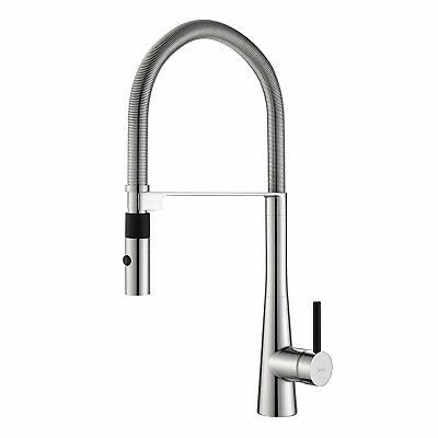 "Kraus Crespo 20"" Commercial Single Handle Kitchen Faucet w/ Pull Down Sprayhead"