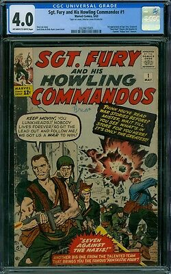 Sgt. Fury and His Howling Commandos 1 CGC 4.0 - OW/W Pages