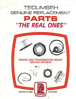TECUMSEH HS50 ENGINE Parts Manual 1987 - $7 94 | PicClick CA