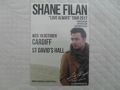 SHANE FILAN - lovely colour tour flyer (Mint) WESTLIFE