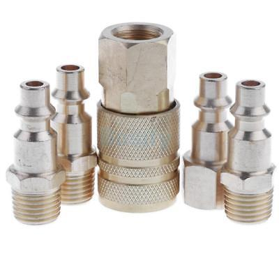 5pcs Quick Couplers Solid Air Hose Connector Coupling Fittings 1/4 NPT Tool
