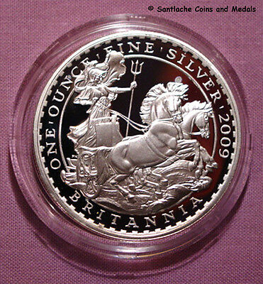 2009 Royal Mint Silver Proof £2 Britannia Coin In Capsule