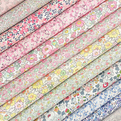 Liberty Spring Tana Lawn Fabric Pack  quilting floral pink betsy wiltshire berry