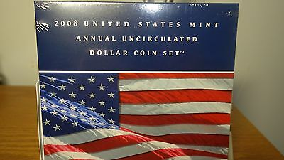 2008 United States Mint Annual Uncirculated Dollar Coin Set.**Mint condition**