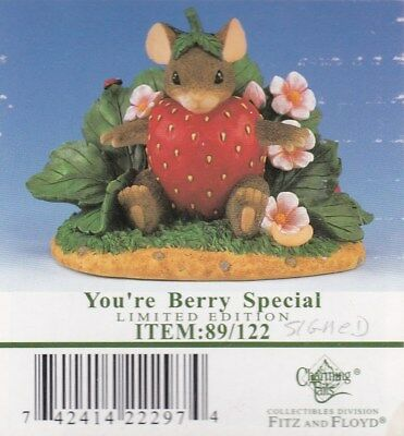 """#117A Charming Tails """"you're Berry Special""""  89/122 - Limited Edition - Signed"""