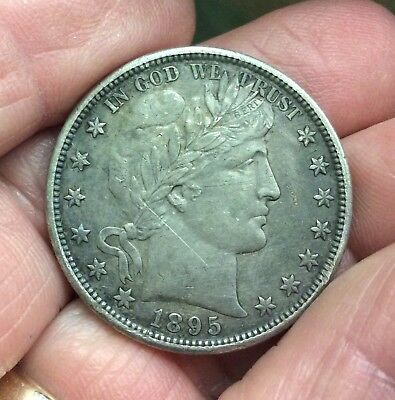1895-O New Orleans Mint Silver Barber Half Dollar