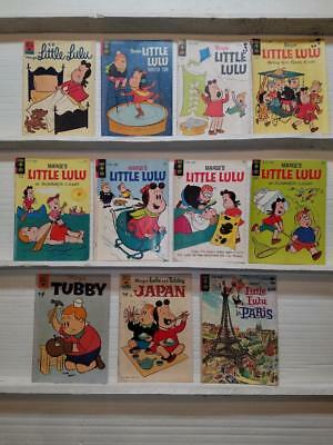 Lot of 11 Marge's Little Lulu Tubby in Paris in Japan Estate Sale Find Fresh SA