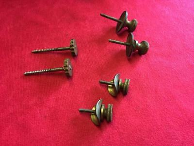 LOT OF VINTAGE CLOCK SCREWS for HOLDING CLOCK MOVEMENTS in PLACE