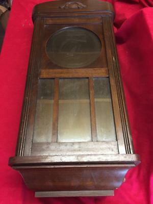Vintage Wooden Wall Clock Case For Restoration Project