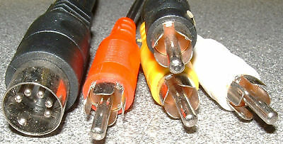 Short 5 pin din to 4 phono plug lead 200mm cable length