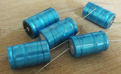 5 Philips 1000uf 40v vintage axial electrolytic capacitor 2222-032-17102