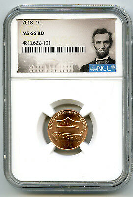 2018 P Us Mint Cent Union Shield Ngc Ms66 Rd Lincoln Label Super High Grade