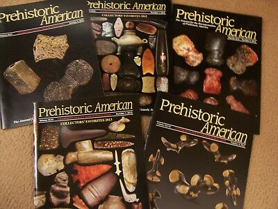"""Five Copies Of The Journal """"prehistoric American"""" Published By The G.i.r.s."""
