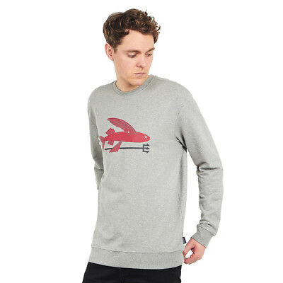 Patagonia - Flying Fish Midweight Crew Sweatshirt Feather Grey / Classic Red