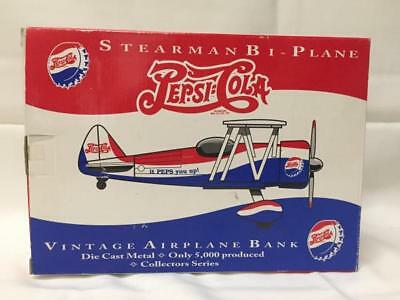 Pepsi-Cola # 2, 1934 Stearman Bi-Plane SpecCast Airplane Bank 1:32 #37504
