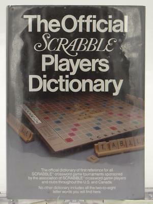 The Official Scrabble Players Dictionary 1978 Board Game Merriam Company HC DJ