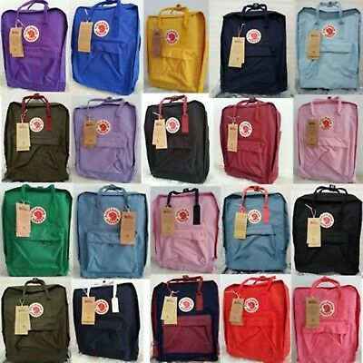 Unisex Fjallraven Kanken Backpack Travel Shoulder School Bags Brand 7L/16L/20L