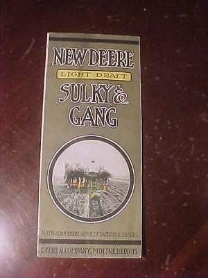 1916 New Deere Light Draft Sulky & Gang 8 Page Brochure #1