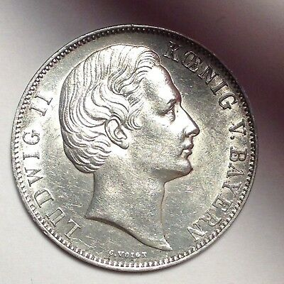 1870 Thaler Ludwig II Bavaria GERMAN STATES - BOLD LUSTROUS BEAUTY! LOOK! [FC24]