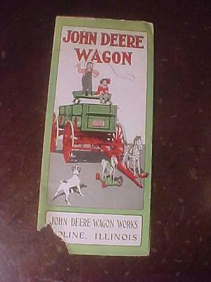 1918 John Deere 6 Page With Fold Out Wagon Brochure
