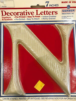 7 inch Simulated Wood grain decorative  Letters in/outdoor pre-drilled new