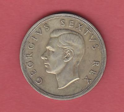 1952 South Africa 5 Shillings 300th Anniversary Capetown Silver Coin No Reserve!