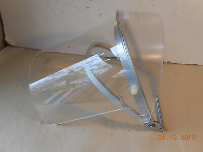 Nos Oberon Ff026 Clear Face Shield Hard Hat Mount