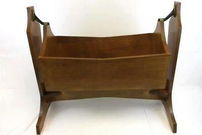 Antique Infant Baby Handmade Cradle Swinging Wood Life Size