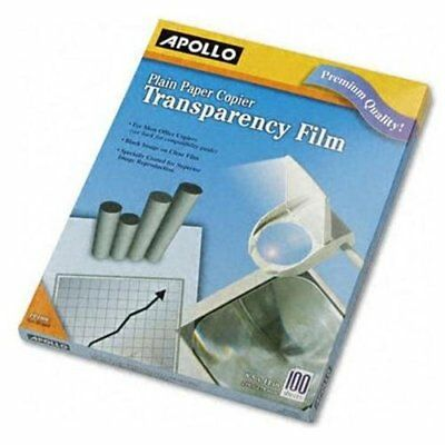 "Apollo Transparency Film - Letter - 8.50"" X 11"" - 100 / Box - Clear (PP100C)"