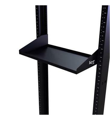 "Icc 10"" Deep Single Rack Shelf 2 Pk - 19"" 2u Wide - Black (iccmsrsfc1)"