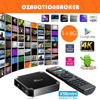 X96MINI Smart TV BOX Android 7.1.2 Quad Core HDMI 4K Media Player WIFI 1+8GB AU
