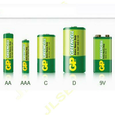 GP Greencell BATTERIES AA/AAA/9V/C/D SIZE BATTERIES MULTIPLE QTY Heavy Duty